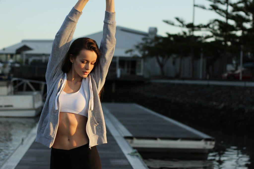 Meisje yoga